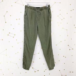 Sanctuary • Army Green Chambray Jogger Pants L